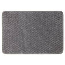 mohawk home bath rug memory foam grey