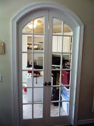 open arched double doors. Custom Arched French Doors That We Built To Close Off Any Office Area In A House Over West University. The Builder Had Just Left Sheetrocked Open Double D