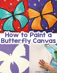 how to paint a erfly canvas step by step art lesson on acrylic painting for