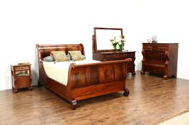 The Truth About Full Size Sleigh Bed SOLD Empire Antique 4 Pc Bedroom Set  ...