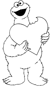 Small Picture Valentines Day Cookie Monster Coloring Pages Coloring Pages
