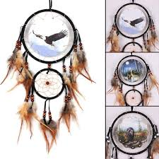 Eagle Feather Dream Catcher Best Eagle Bear Wolf Design Handmade Dream Catcher With Feathers Animal