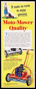 Lawn Mowing Ads Details About 1954 Moto Mower Lawn Mower Photo Vintage Print Ad