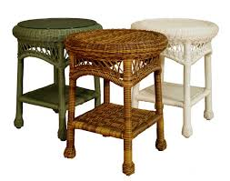 awesome wicker end tables