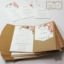 Pocketfold With Inserts Wedding Invitation Design 918