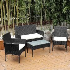 3 4pcs rattan garden furniture