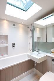 Bath Panel Lights Ensuite Bathroom With Flat Roof Light Over T G Bath Panel