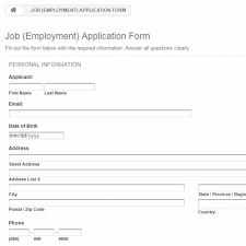 references for jobs template application forms for jobs in employment form references expert