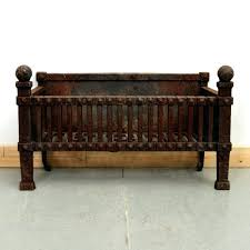 antique cast iron fireplace grate surround