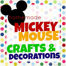 homemade mickey mouse crafts and