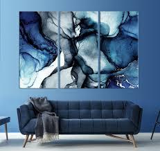 blue marble wall art navy blue wall