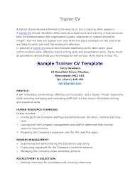 Personal Trainer Resume Template Saneme
