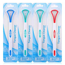 <b>Tongue Scraper</b> Cleaner for Adults, 4 Pack <b>Tongue Brush</b> for <b>Oral</b> ...