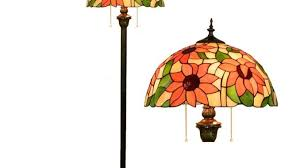 orange stained glass lamp