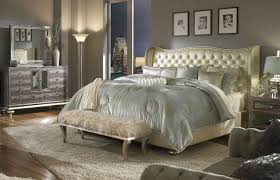 Mirrored Headboard Bedroom Set Collection Including