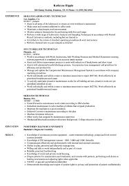 Skilled Technician Resume Samples Velvet Jobs