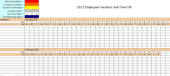 This Employee Vacation Tracking Template Will Help You Stay
