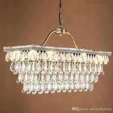 rectangular chandelier lighting contemporary modern crystal light bulb socket pendant lamp for
