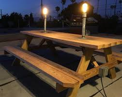 outdoor table lighting ideas. Outdoor Table Lighting Ideas. Diy:installed And Outlet This Lowes Picnic Ideas R