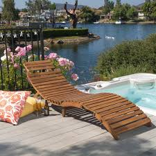 lahaina outdoor acacia wood chaise lounge by christopher knight home free today 14325885