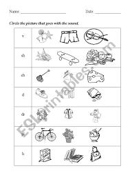 Beginning sounds worksheets for preschool and kindergarten; Phonics Initial Sounds Esl Worksheet By Mandyman