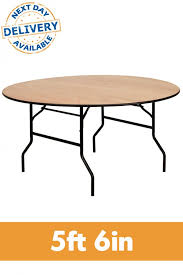 trestle table 5ft 6in round plywood folding trestle