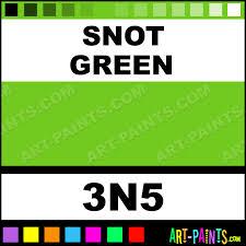 Snot Green Millenium Tattoo Ink Paints 3n5 Snot Green