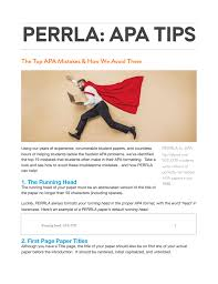 Common Apa Mistakes
