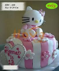 Cute Hello Kitty Happy Birthday Cake Pesan Kue Ulang Tahun Hello
