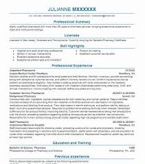 resume for pharmacist