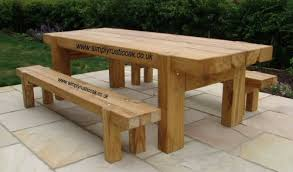 rustic outdoor table and chairs. Elegant Oak Garden Furniture Rustic Table Beam . Outdoor And Chairs 2