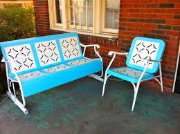 vintage metal furniture repaint old metal patio chairs diy paint