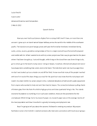 lucas speech essay
