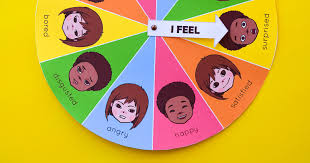 Emotions Chart For Kindergarten Free Printable Mood Emotion Wheel Chart For Children