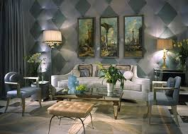 Venetian Inspired Art Deco Living Room