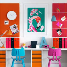 colorful home office. Extra Colorful Home Office DigsDigs