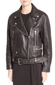 acne studios merlyn leather jacket black qwc 67592
