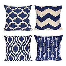 navy throw pillows.  Navy FanHomcy Navy Blue Geometrict Throw Pillows Cases For Couch Decorative  Cushion Covers Set Of 4 Throughout O