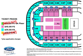 Seating Chart Ford Idaho Center Events Luke Combs Ictickets