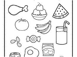 Food Pyramid Coloring Page For Preschoolers Healthy Food Coloring