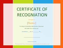 Recognition Awards Certificates Template Good Sample Blank ...