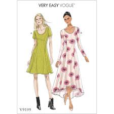 Fit And Flare Dress Pattern Enchanting Misses Knit Fit And Flare Dresses Vogue Sewing Pattern 48 Sew