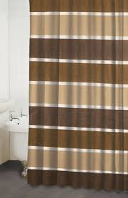 Congo Beige and Brown Fabric Shower Curtains Cozy Homewares