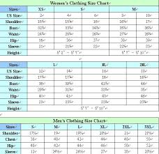 Mens Clothing Size Chart Home Cnemay Size Chart Cnemay