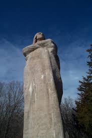 Rock Sculpture black hawk statue 8506 by xevi.us