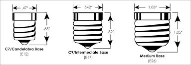 Light Bulb Socket Guide Info On Sizes Types Shapes