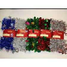 Holiday Living Indoor 12-ft L Tinsel Garland