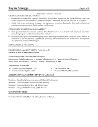 Fire Fighter Resume Firefighter Resume Template Images Resume