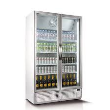 double door commercial fridge white