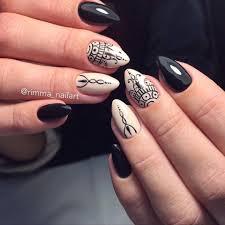 Almond Shaped Nail Designs Nail Art 2613 Beige Nails Henna Nails Autumn Nails 2017